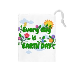 Earth Day Drawstring Pouches (medium)  by Valentinaart
