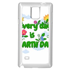 Earth Day Samsung Galaxy Note 4 Case (white) by Valentinaart