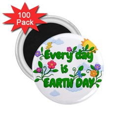 Earth Day 2 25  Magnets (100 Pack)  by Valentinaart