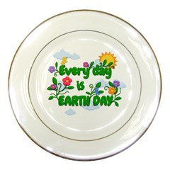 Earth Day Porcelain Plates by Valentinaart