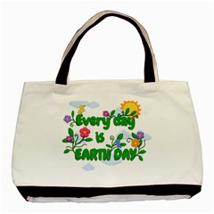 Earth Day Basic Tote Bag by Valentinaart