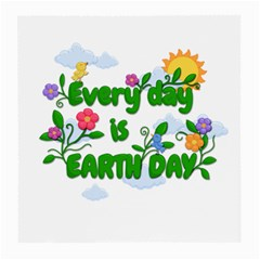 Earth Day Medium Glasses Cloth (2 Side) by Valentinaart