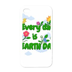 Earth Day Apple Iphone 4 Case (white) by Valentinaart