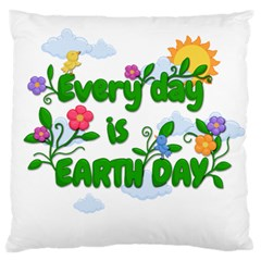 Earth Day Large Cushion Case (one Side)