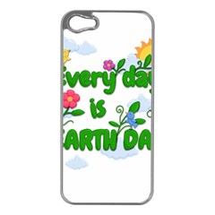 Earth Day Apple Iphone 5 Case (silver) by Valentinaart