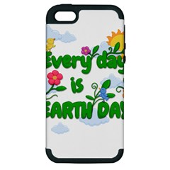 Earth Day Apple Iphone 5 Hardshell Case (pc+silicone) by Valentinaart
