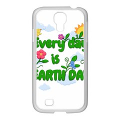 Earth Day Samsung Galaxy S4 I9500/ I9505 Case (white) by Valentinaart