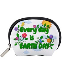 Earth Day Accessory Pouches (small)  by Valentinaart