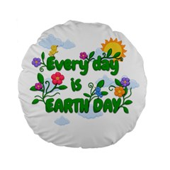 Earth Day Standard 15  Premium Flano Round Cushions by Valentinaart