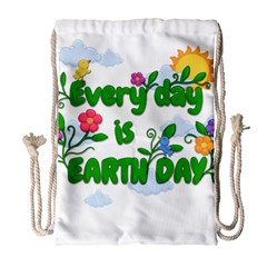 Earth Day Drawstring Bag (large) by Valentinaart