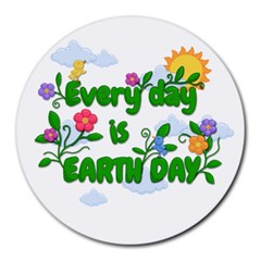 Earth Day Round Mousepads by Valentinaart