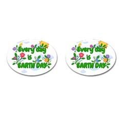 Earth Day Cufflinks (oval) by Valentinaart