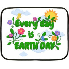 Earth Day Double Sided Fleece Blanket (mini)  by Valentinaart