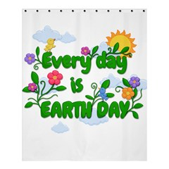 Earth Day Shower Curtain 60  X 72  (medium)  by Valentinaart