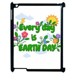 Earth Day Apple Ipad 2 Case (black) by Valentinaart