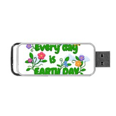 Earth Day Portable Usb Flash (one Side) by Valentinaart