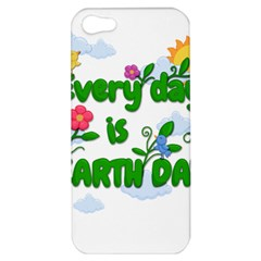 Earth Day Apple Iphone 5 Hardshell Case by Valentinaart