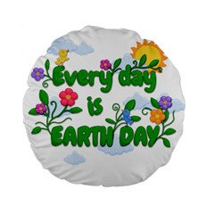 Earth Day Standard 15  Premium Round Cushions by Valentinaart