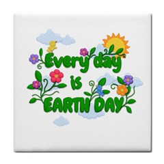 Earth Day Tile Coasters by Valentinaart