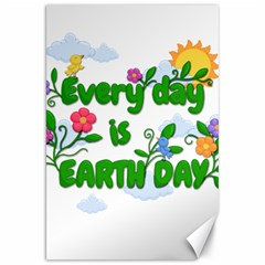 Earth Day Canvas 20  X 30   by Valentinaart