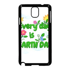 Earth Day Samsung Galaxy Note 3 Neo Hardshell Case (black) by Valentinaart