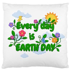 Earth Day Standard Flano Cushion Case (one Side) by Valentinaart
