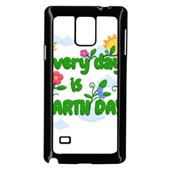 Earth Day Samsung Galaxy Note 4 Case (black) by Valentinaart