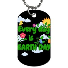 Earth Day Dog Tag (two Sides) by Valentinaart