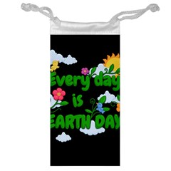Earth Day Jewelry Bag by Valentinaart