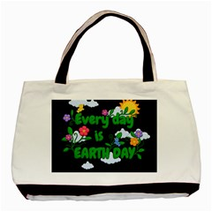 Earth Day Basic Tote Bag (two Sides) by Valentinaart