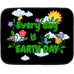 Earth Day Double Sided Fleece Blanket (mini)  by Valentinaart