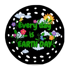 Earth Day Ornament (round Filigree) by Valentinaart