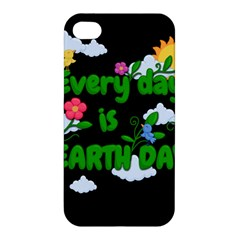 Earth Day Apple Iphone 4/4s Premium Hardshell Case by Valentinaart