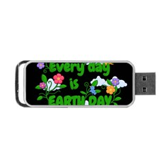 Earth Day Portable Usb Flash (two Sides) by Valentinaart