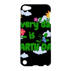 Earth Day Apple Ipod Touch 5 Hardshell Case by Valentinaart
