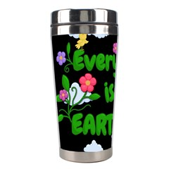Earth Day Stainless Steel Travel Tumblers by Valentinaart