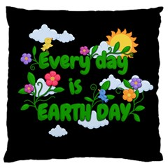Earth Day Standard Flano Cushion Case (two Sides) by Valentinaart