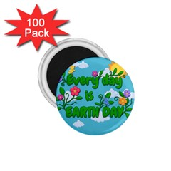 Earth Day 1 75  Magnets (100 Pack)  by Valentinaart