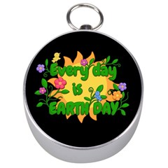 Earth Day Silver Compasses by Valentinaart