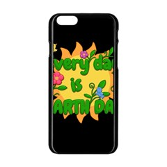 Earth Day Apple Iphone 6/6s Black Enamel Case by Valentinaart