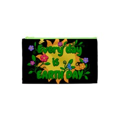Earth Day Cosmetic Bag (xs) by Valentinaart