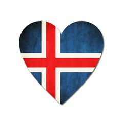 Iceland Flag Heart Magnet by Valentinaart