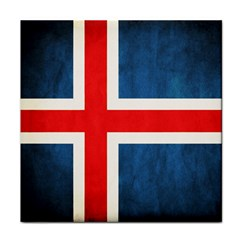 Iceland Flag Face Towel by Valentinaart