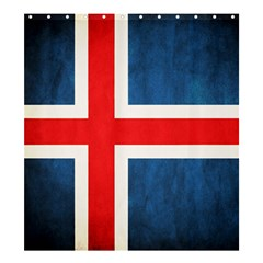 Iceland Flag Shower Curtain 66  X 72  (large)  by Valentinaart