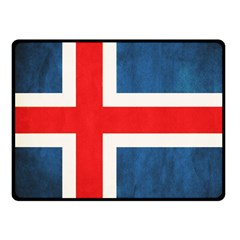 Iceland Flag Fleece Blanket (small) by Valentinaart