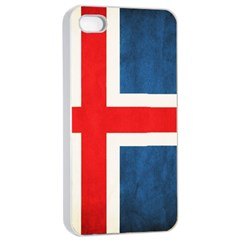 Iceland Flag Apple Iphone 4/4s Seamless Case (white) by Valentinaart