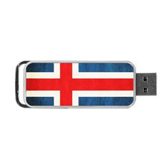Iceland Flag Portable Usb Flash (two Sides) by Valentinaart