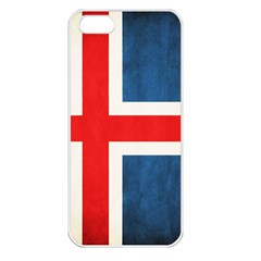 Iceland Flag Apple Iphone 5 Seamless Case (white) by Valentinaart