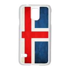 Iceland Flag Samsung Galaxy S5 Case (white) by Valentinaart