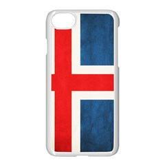 Iceland Flag Apple Iphone 7 Seamless Case (white) by Valentinaart